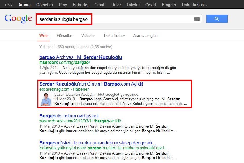 Google Authorship Bargao